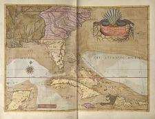 A Map of Carolina, Florida and the Bahama Islands.