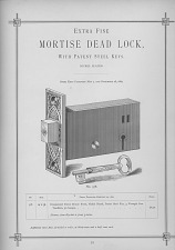 Extra Fine Mortise Dead Lock, with Patent Steel Keys.