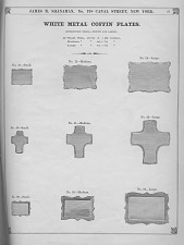 White Metal Coffin Plates