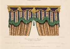 Couronnements de Croisées avec Galeries en estampé et Velours.