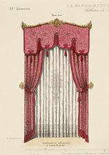 Lambrequin en embrasses à noeuds Louis XV