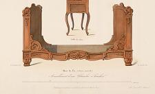 Bois de lit (Genre Louis XV). Ameublement d'une chambre à coucher.