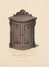 Petit meuble d'encoignure (Genre Louis XV).