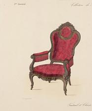 Fauteuil et Chaise. Genre moderne.