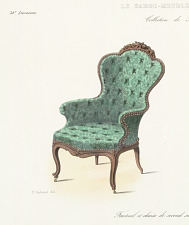 Fauteuil et chaise de second salon ou de Boudoir