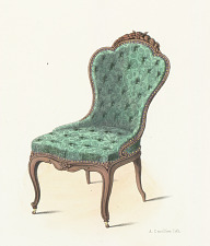 Fauteuil et chaise de second salon ou de Boudoir.