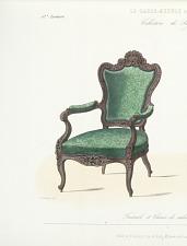 Fauteuil et chaise de salon, Genre Louis XV