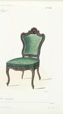 Fauteuil et chaise de salon, Genre Louis XV.