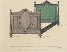 Lit à dossiers médaillons. Genre Louis XVI