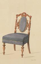 Chaises de salle à manger. Genre renaissance.