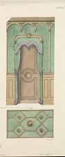 Collection de Tentures. Trois décors d'antichambres et plafonds.
