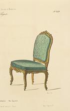 Fauteuil et chaise de présentation. Louis XIV.