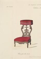 Chaise prie-dieu Louis XV.