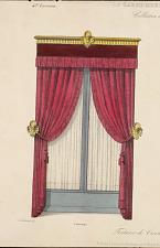 Tentures de croisées Louis XVI. Estampé.