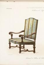 Fauteuil et Chaise de Salon. Style Louis XIV