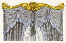 Décors de Croisées. Genre Louis XVI. (Bois doré.).