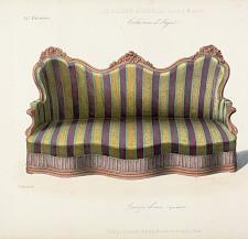 Canapé divan (Genre Louis XV).