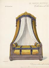 Décor d'un lit et d'une croisée (Bois doré).
