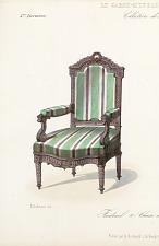 Fauteuil & Chaise de salon. Style Louis XVI