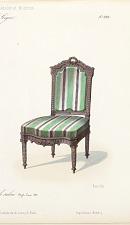 Fauteuil & Chaise de salon. Style Louis XVI.
