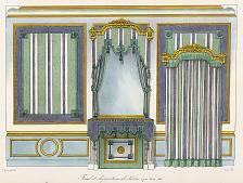 Fond et disposition de Salon. Genre Louis XVI.