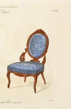 Fauteuil et Chaise médaillon. Nouveau modèle.