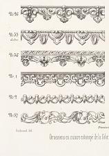 Dentelles (ornements pour velours) Talons pour corniches.