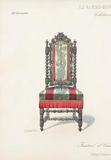 Fauteuil et Chaise (Renaissance) Vieux bois.
