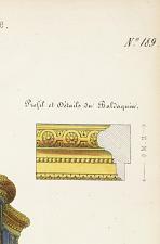 Profil et détails du Baldaquin.