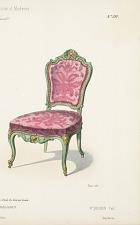 Fauteuil & Chaise. Genre Louis XV.