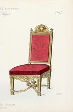 Fauteuil et Chaise. Genre Louis XV.