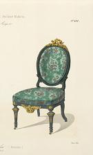 Fauteuil & chaise de salon (Médaillon).