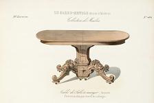Table de Salle à manger -Renaissance. S'ouvrant au milieu pour recevoir des rallonges.