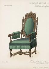 Fauteuil et Chaise. Renaissance. Vieux bois.