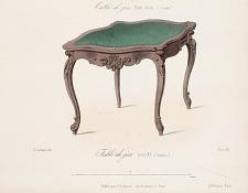 Table de jeu. Louis  XV (ouverte).