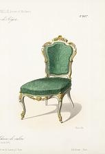 Fauteuil et chaise de salon (Genre Louis XV).