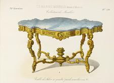 Table de Salon à quatre pieds consoles (Louis XV).
