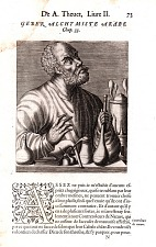 Removed from book: André Thevet, Les vrais pourtraits et vies des hommes illustres, 1584. Livre II, p. 73, Chap. 33, signed N [N1 recto].