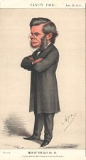 From Vanity Fair, Jan. 28, 1871. No. 117, Men of the Day No. 19. With accompanying biographical sketch.
