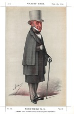 From Vanity Fair, Nov.26, 1870. No. 108, Men of the Day No. 14. With accompanying biographical text.