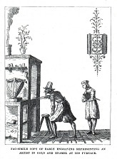 Reproduction of 1619 engraving; clipped from magazine.