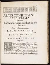 Artis conjectandi pars prima