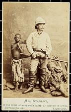 Carte de visite: Mr. Stanley, in the dress he wore when he met Livingstone in Africa