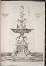 Plate No. 66 Fountain, boy and swan base with group