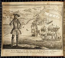Captain Bartho. Roberts with two ships, Viz. the Royal Fortune and Ranger, takes Sail in Whydah Road on the Coast of Guiney, January 11th, 1721/2.