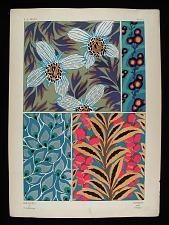 Pl. 3: Bouquets et frondaisons / Flowers and Foliage
