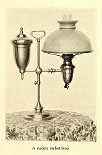 A modern student lamp.