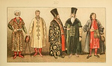Russian costumes.