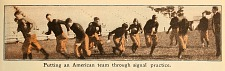 Putting an American team through signal practice.
