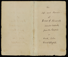 The Book, Title page | The Jefferson Bible, National Museum of American History, Smithsonian Institution